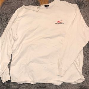White and Red O'Neill long sleeve tee